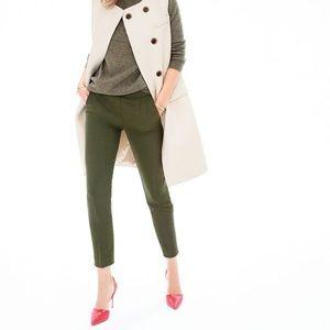 🆕 J. CREW Martie Slim Crop Pant, Olive Green, NWT